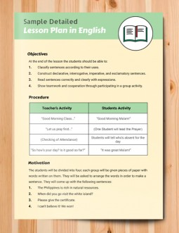 Detailed Lesson Plan – free Google Docs template