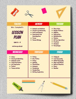 Special Lesson Plan – free Google Docs template
