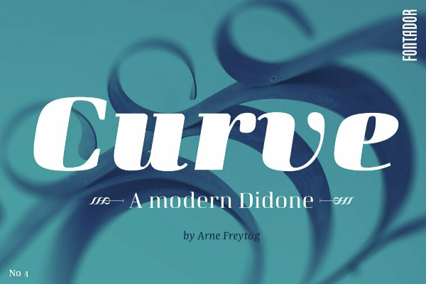 Modern Didone Fonts for your collection: Curve