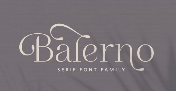 Modern Didone Fonts for your collection: Balerno