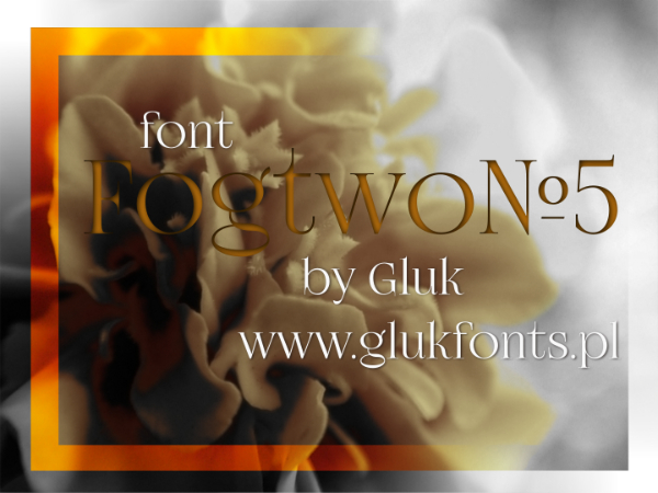 Modern Didone Fonts for your collection: FogtoWoNo5