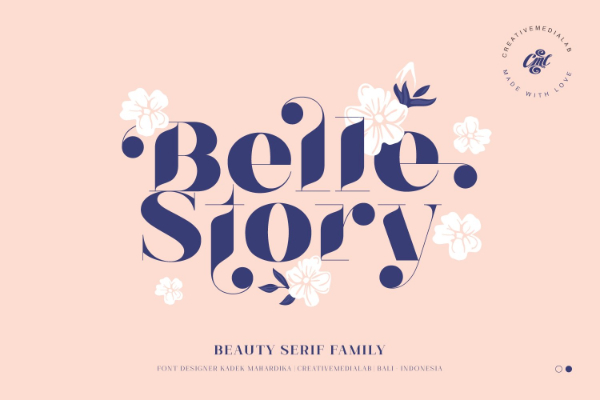 Modern Didone Fonts for your collection: Belle Story