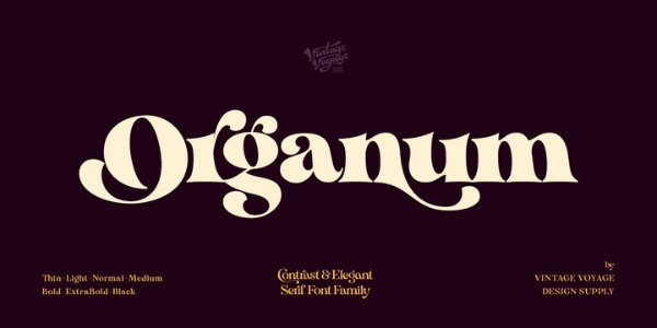 Modern Didone Fonts for your collection: Organum