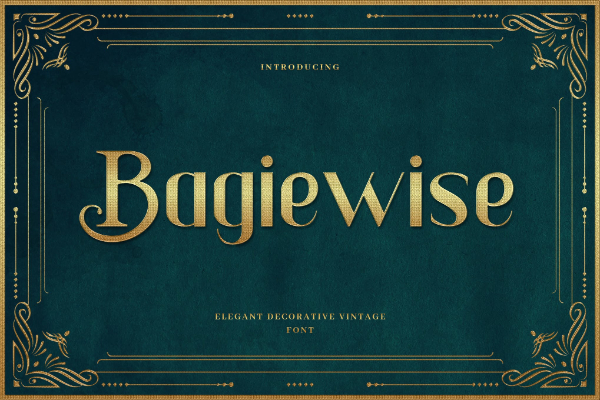 Modern Didone Fonts for your collection: Bagiewise